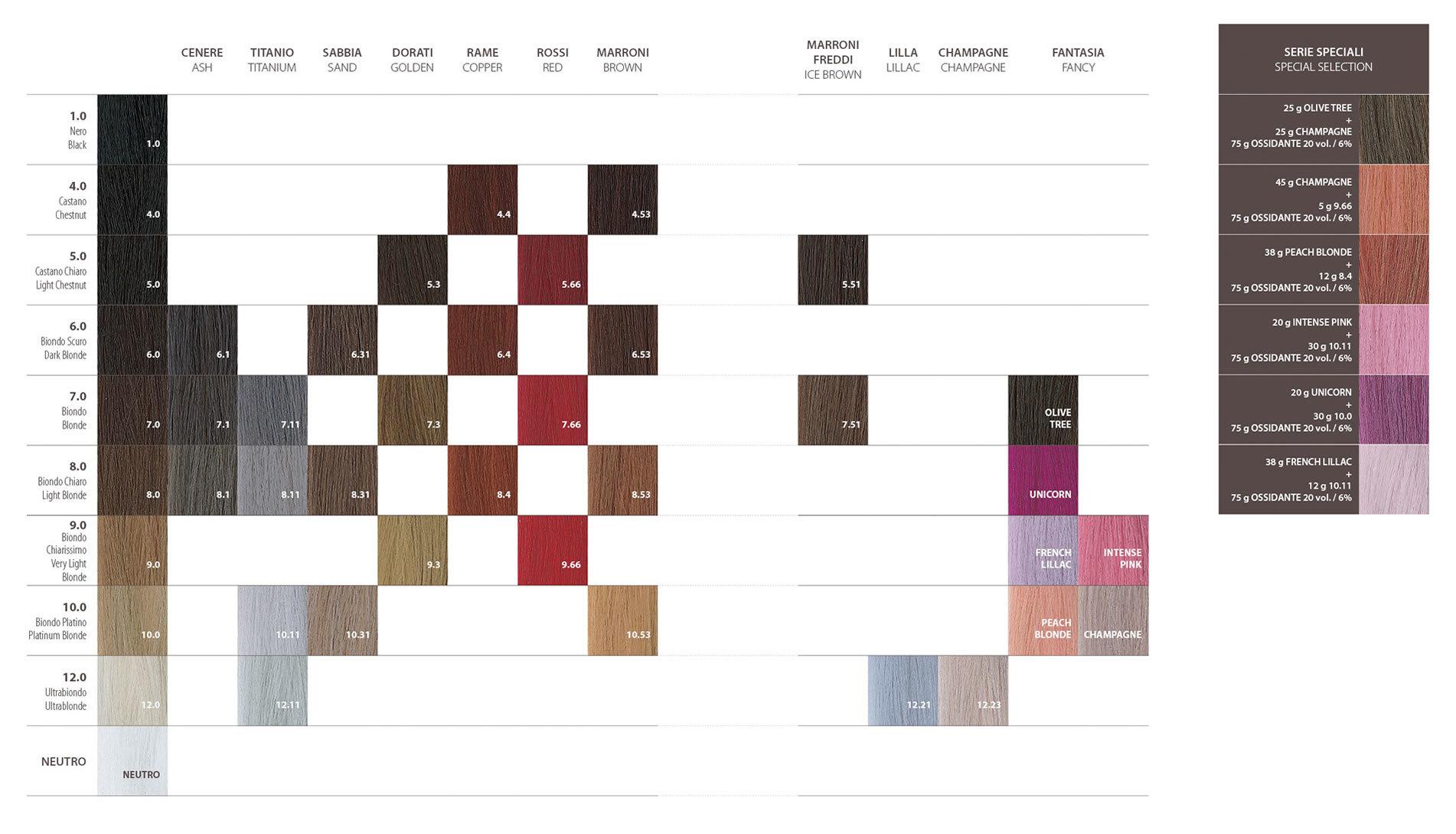 Dott solari olea color nuances